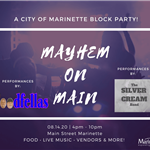 Mayhem on Main Promo with Bands